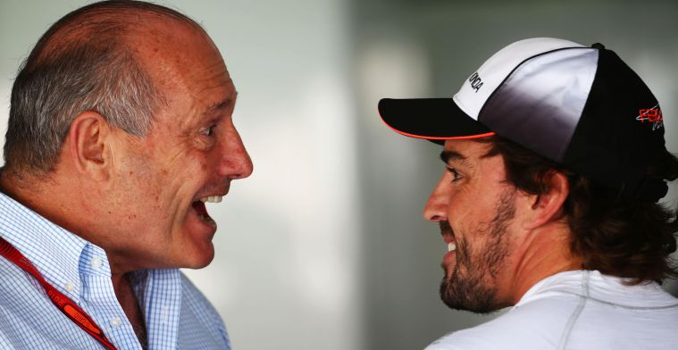 How Alonso rushed Dennis' head: ''He knew that, of course''.