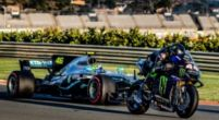 """Image: Yamaha team boss about Hamilton in MotoGP: """"It was more than a promo"""""""
