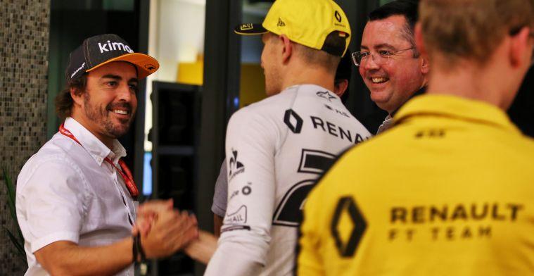 Alonso naar Renault: 'Verstappen heeft laten zien dat dit een verkeerde keuze is'