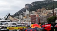 Image: Max Verstappen drives a virtual lap on the tight circuit of Monaco