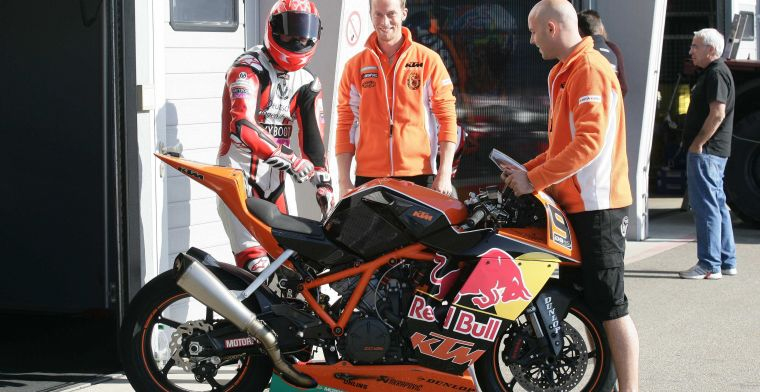 KTM factory team makes first meters during private test on the Red Bull Ring