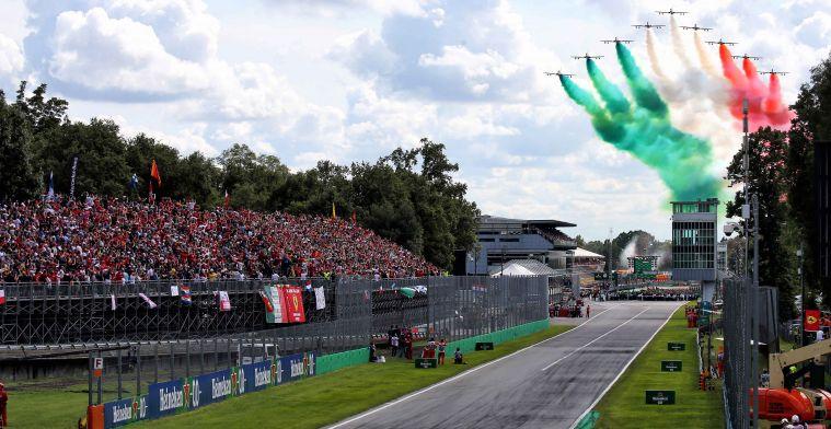 Italiaanse GP zal op 6 september worden verreden zonder publiek