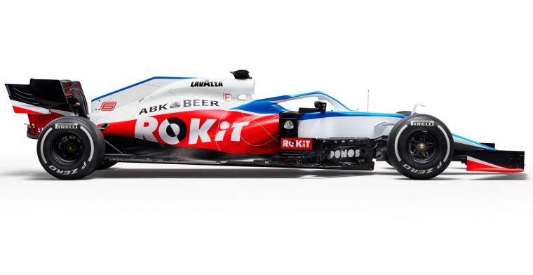 Is the Williams FW43 going to look like this without ROKiT on the car?