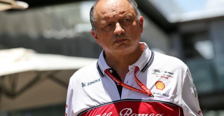 Vasseur: Ook met de nieuwe regels in 2022 zal Alfa Romeo geen winst maken