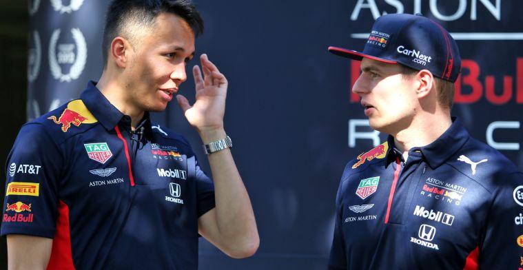 ''Albon moet in de buurt van Verstappen blijven om toekomst in F1 te verzekeren''