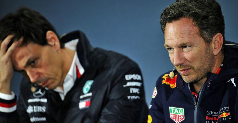 Horner geeft Mercedes geen rust: ''Er zullen snel vragen komen over DAS''