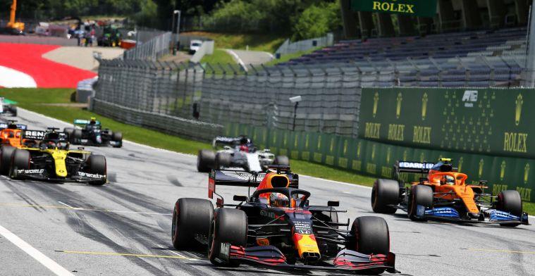 Verstappen start morgen vanaf kansrijke positie, Ferrari moet aan de bak