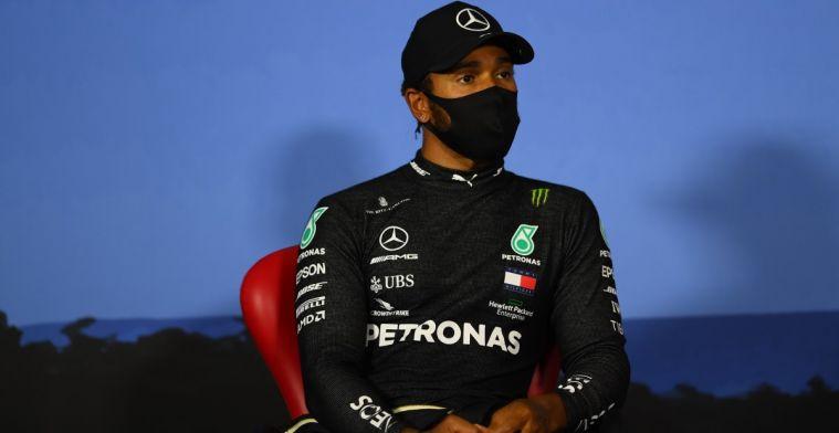 Hamilton: 'Sommige coureurs zijn nog steeds stil in racismedebat'