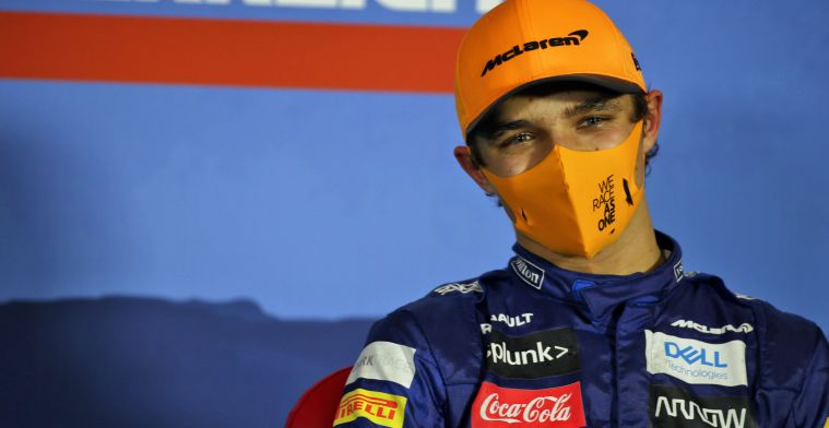 Decision fight with Sainz for Norris: ''That's why I was on stage''