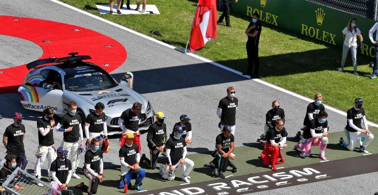 Hamilton respects those who didn't take a knee ahead of Austrian Grand Prix