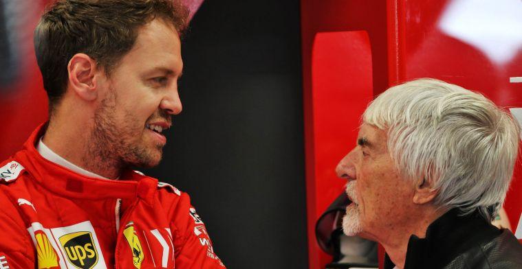 Ecclestone en Marko adviseerden Vettel om contractnieuws te lekken naar de media