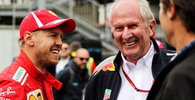 Vettel vroeg Helmut Marko om advies: ''De uitkomst ervan zullen jullie wel zien''