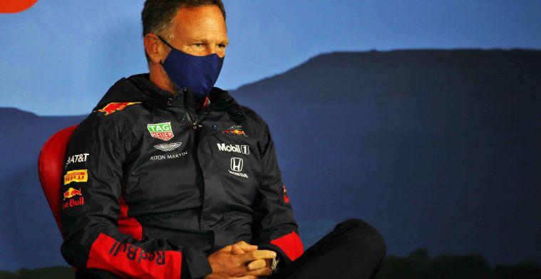 Horner vond overwinning realistisch: Hij kreeg problemen met zijn banden