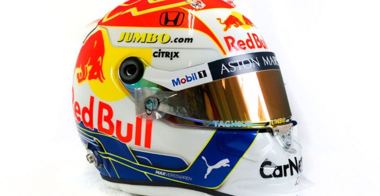 Uitgelicht: De nieuwe 'Nederlandse' helm van Verstappen uit alle hoeken