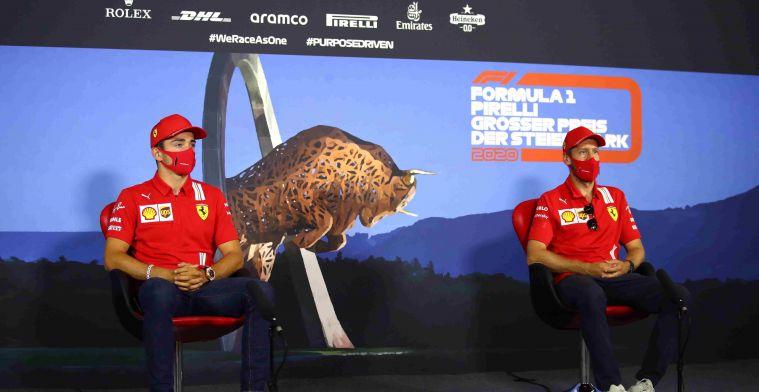 Vettel niet blij met actie Leclerc: Denk niet dat er ruimte was