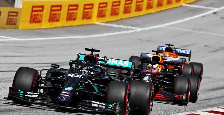 Hamilton wint Grand Prix op Red Bull Ring, derde plek maximale voor Verstappen