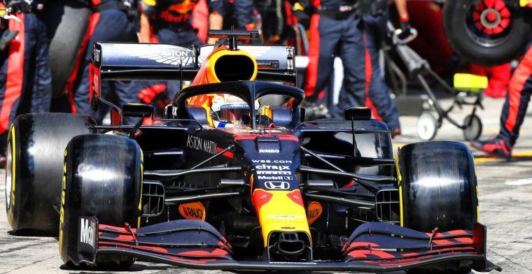 De pitstop van Max Verstappen was razendsnel