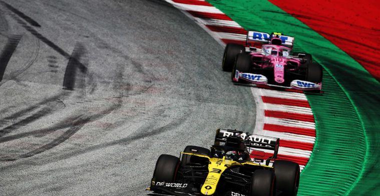 Ricciardo baalt van actie Stroll: ''Was een wanhopige actie van hem''