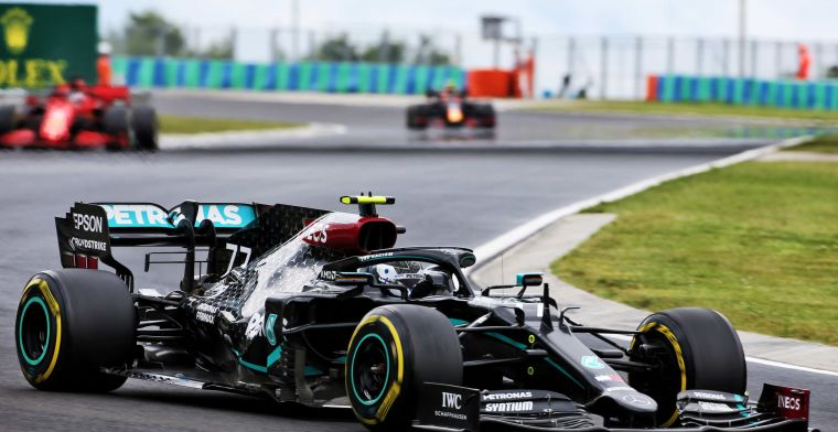 Mercedes: The lights on Bottas' steering wheel are for the practice start only.