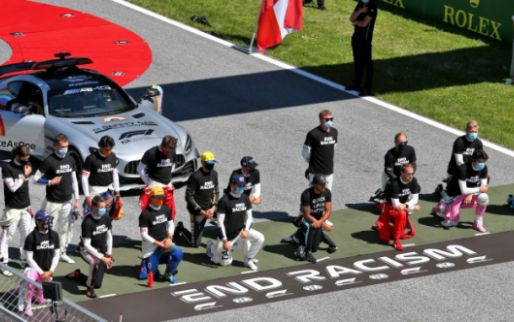 Before the British Grand Prix there will be an anti-racism protest
