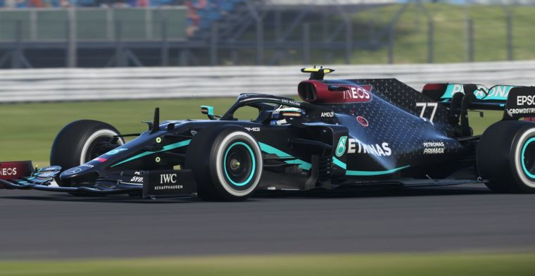 The black livery of the Mercedes W11 has been added to F1 2020
