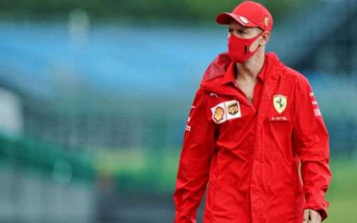 Photographer spotted Vettel getting into Racing Point's Szafnauer's car