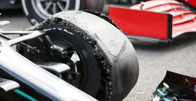 Doornbos: 'Flat Mercedes tires are probably caused by a high degree of downforce'