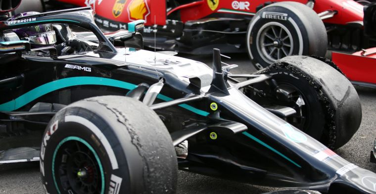Why was Hamilton allowed to keep on driving with a flat tire?