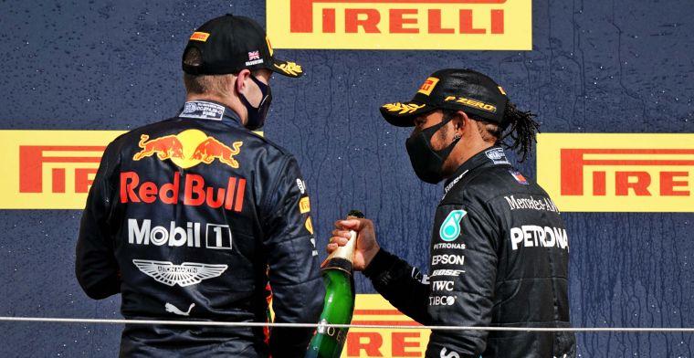 Hamilton had hoop op Verstappen: ''Dit is niet de strijd waarop ik had gehoopt''