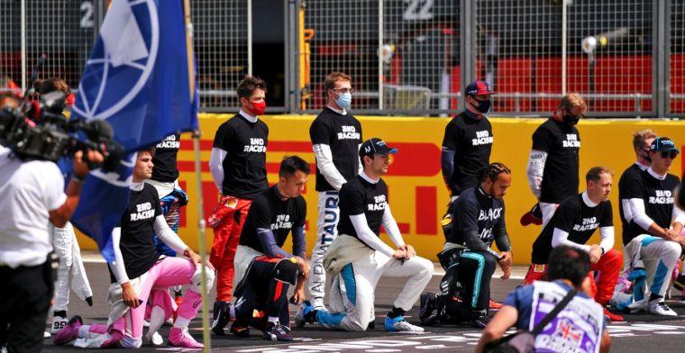 """Hamilton: """"In andere sporten knielen ze wel als eenheid"""""""