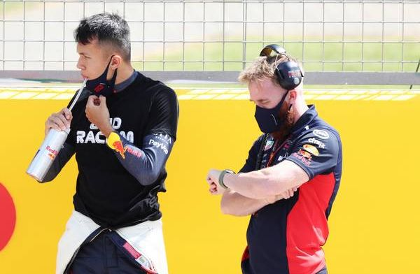 Room for improvement for Albon: 'That's what I have to work on this weekend'.