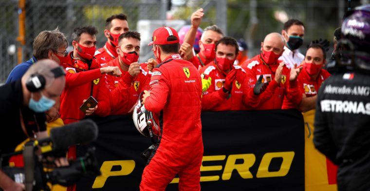 Leclerc beloont het vertrouwen van Ferrari: ''Indrukwekkend wat hij laat zien''