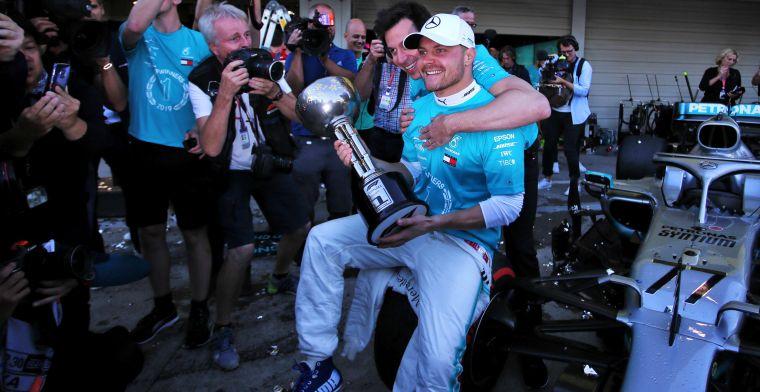 Wolff tevreden met Bottas: ''We hebben de sterkste coureurs in de Formule 1''
