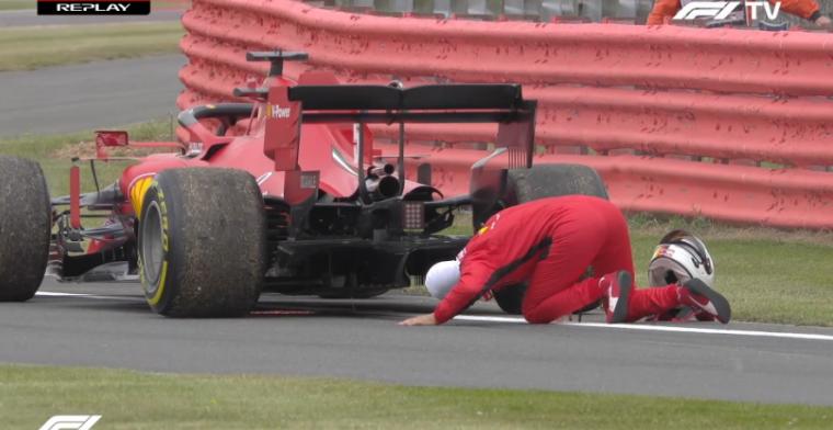 Opnieuw problemen voor Ferrari: Vettel valt stil na motorproblemen
