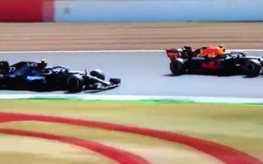 Verstappen neemt Bottas te grazen en neemt P1 over op Silverstone!