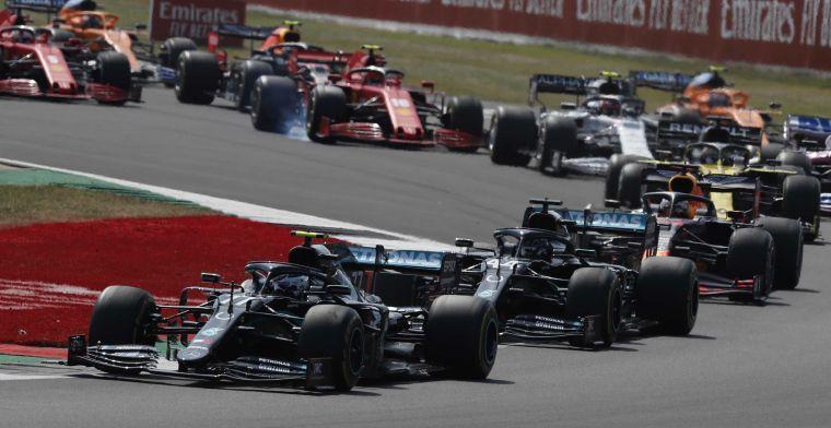 WK-stand constructeurs: Red Bull loopt één punt in op Mercedes
