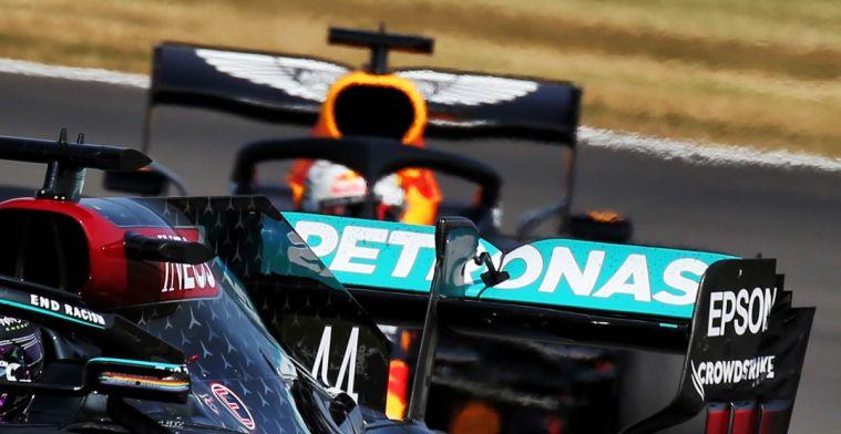 Doorbuigende achtervleugel Mercedes gespot; Red Bull en Ferrari ook onder de loep