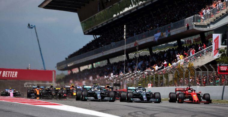 Kleine verandering in tijd op vrijdag bij de Spaanse Grand Prix
