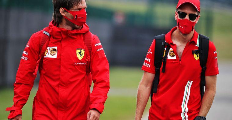 Vettel erg ongelukkig bij Ferrari: ''Zo haalt hij het eind van het jaar niet''