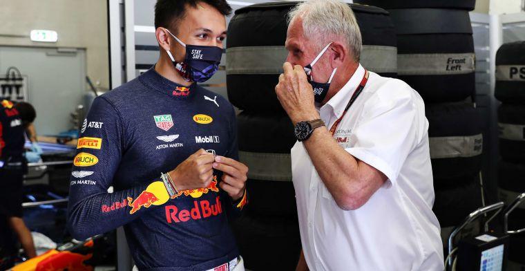 Albon maakt indruk op Red Bull: ''Ik ben echt onder de indruk van zijn racecraft''