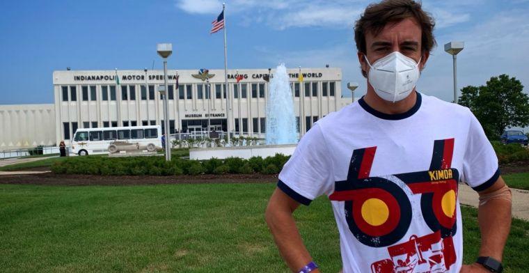 Alonso positief na 'opfrisbeurt' op het asfalt van Indianapolis