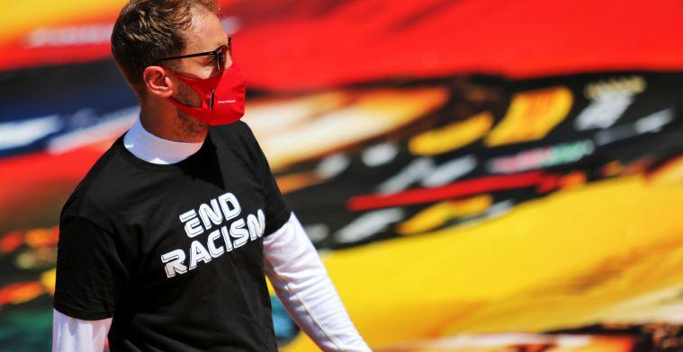 Vettel kan weer grappen maken na GP Spanje: Kan je je helikopter wegsturen?