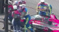 Image: Palou crashes hard in turn 1 and falls out!