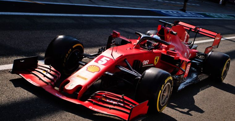 Video: Vettel the first retirement of the Italian Grand Prix due to brake problem