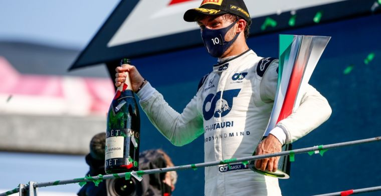 Verstappen congratulated Gasly by text message: Besides Mercedes, only we won