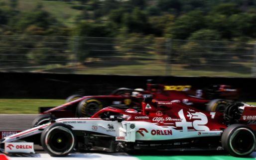 Unfortunate collision between Raikkonen and Perez