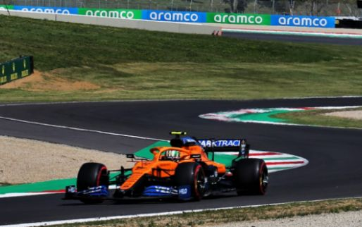 Red flag: Norris at high speed against the wall at Mugello
