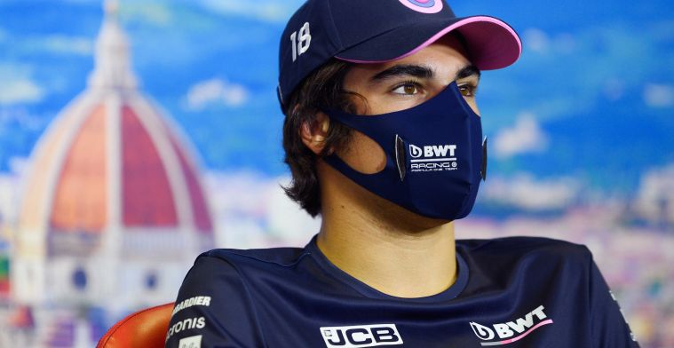 Stroll has already done his first laps at Imola