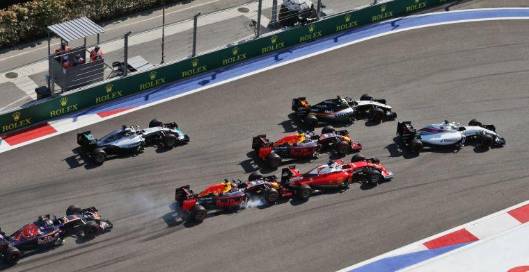 Russische Grand Prix: Veel startcrashes en teamorders bij Mercedes