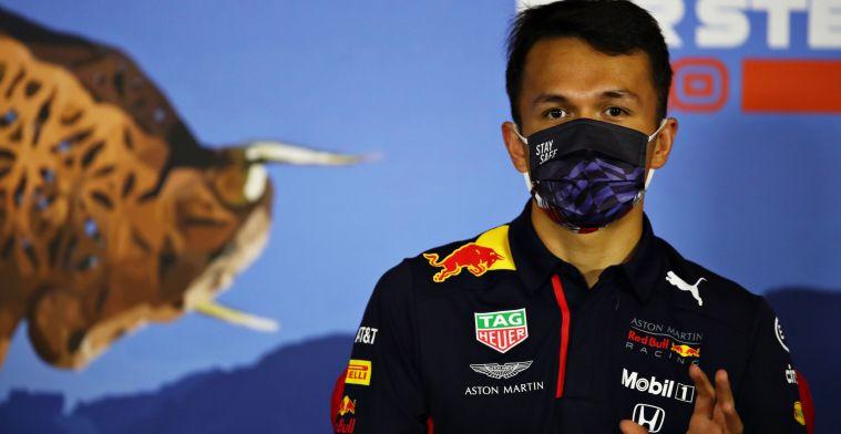 Albon maakt indruk bij Red Bull: ''Dan zal hij dichterbij Verstappen gaan komen''
